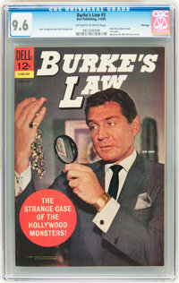 Burke's Law #3 File Copy (Dell, 1965) CGC NM+ 9.6 Off-white to white pages