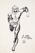 Original Comic Art:Sketches, Gil Kane Green Lantern Sketch Original Art (1980)....