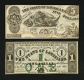 Obsoletes By State:Louisiana, Baton Rouge, LA- State of Louisiana $1 Feb. 24, 1862; $5 Oct. 10, 1862 . ... (Total: 2 notes)