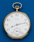 Timepieces:Pocket (post 1900), Howard 14k Gold Size 12. ...