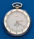 Timepieces:Pocket (pre 1900) , Ball 12 Size With Sector Seconds. ...