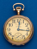 Timepieces:Pocket (pre 1900) , Waltham 21 Jewel Crescent Up/Down Indicator. ...