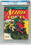 Golden Age (1938-1955):Superhero, Action Comics #41 (DC, 1941) CGC VF- 7.5 Cream to off-white pages....