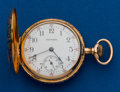 Timepieces:Pocket (post 1900), Waltham Gold Size 0 Hunters Case. ...
