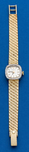 Timepieces:Wristwatch, Rolex Lady's Gold & Diamond Wristwatch. ...