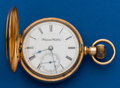 Timepieces:Pocket (post 1900), Hampden 14k Gold 18 Size Hunters Case. ...