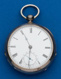 Timepieces:Pocket (post 1900), Waltham Broadway, Coin Silver, Key Wind. ...