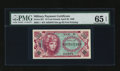 Military Payment Certificates:Series 651, Series 651 10¢ PMG Gem Uncirculated 65 EPQ. ...