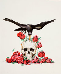TIMOTHY TRUMAN (American, b. 1956) Stolen Roses: Songs of the Grateful Dead, CD cover illustration, 200
