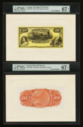 Canadian Currency: , Toronto, ON- The Bank of Toronto $20 Jan. 2, 1935 Ch. # 715-24-14PFace and Back Proofs. ...