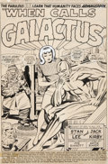 Original Comic Art:Splash Pages, Jack Kirby and Joe Sinnott Fantastic Four #74 Silver Surferand the Thing Splash Page 1 Original Art (Marvel, 1968...