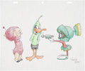 Animation Art:Production Drawing, Virgil Ross Duck Dodgers in the 24½th Century DrawingOriginal Art (Warner Bros., undated)....