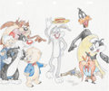 Animation Art:Production Drawing, Virgil Ross Warner Bros. Cartoon Stars Drawing Original Art (Warner Bros., undated)....