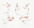 Animation Art:Production Drawing, Virgil Ross Baseball Bugs Drawing Original Art (WarnerBros., undated)....