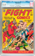 Golden Age (1938-1955):Adventure, Fight Comics #2 (Fiction House, 1940) CGC VG/FN 5.0 Off-white to white pages....