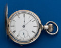 Timepieces:Pocket (pre 1900) , Waltham 4 Ounce Coin Silver Hunters Case. ...