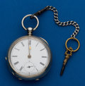Timepieces:Pocket (pre 1900) , Swiss Full Plate Key Wind. ...