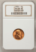 Lincoln Cents: , 1954 1C MS66 Red NGC. NGC Census: (386/9). PCGS Population (212/3).Mintage: 71,873,352. Numismedia Wsl. Price for problem ...