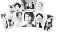 Sophia Loren, Maggie Smith, Julie Andrews, and Others Actress-Signed Photos