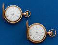 Timepieces:Pocket (post 1900), Two Hunters Case Pocket Watches. ... (Total: 2 Items)