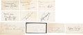 Movie/TV Memorabilia:Autographs and Signed Items, Clara Bow, Norma Shearer, Fannie Brice, and Other Actresses Autograph Collection.... (Total: 10 Items)