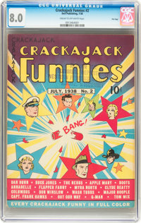 Crackajack Funnies #2 File Copy (Dell, 1938) CGC VF 8.0 Cream to off-white pages