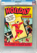 Golden Age (1938-1955):Superhero, Holiday Comics #1 (Fawcett, 1942) CGC FN+ 6.5 White pages....