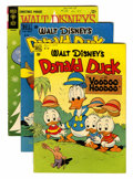 Golden Age (1938-1955):Miscellaneous, Four Color Donald Duck Group (Dell, 1949-65) Condition: Average VG+.... (Total: 3 Comic Books)