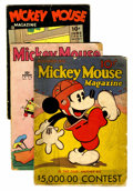 Platinum Age (1897-1937):Miscellaneous, Mickey Mouse Magazine V1#3, V4#11, and V5#9 Group (K. K. Publications/ Western Publishing Co., 1935-39) Condition: Average... (Total: 3 Comic Books)