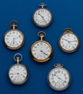 Timepieces:Pocket (post 1900), Six American Pocket Watches. ... (Total: 6 Items)