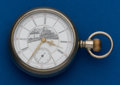 "Timepieces:Pocket (pre 1900) , Columbus 17 Jewel Railway King With Rare ""Choo-Choo"" Dial. ..."