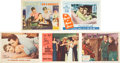 Movie/TV Memorabilia:Autographs and Signed Items, Jane Russell, Janet Leigh, and Other Actress Signed Lobby Cards....(Total: 5 Items)