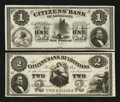 Obsoletes By State:Louisiana, New Orleans, LA- Citizens' Bank of Louisiana $1; $2 . ... (Total: 2 notes)