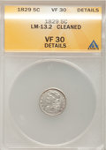 1829 H10C --Cleaned--ANACS. VF30 Details. LM-13.2. NGC Census: (2/541). PCGS Population (6/527). Mintage: 1,230,000. Num...