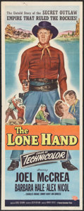 """Movie Posters:Western, The Lone Hand (Universal, 1953). Insert (14"""" X 36""""). Western.. ..."""