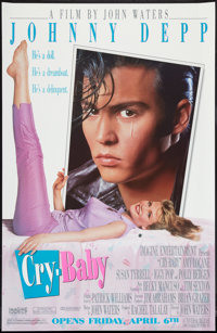 "Cry-Baby (Universal, 1990). Poster (29.5"" X 45"") SS Advance. Comedy"