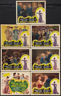 """Belle of the Yukon (RKO, 1944). Title Lobby Card and Lobby Cards (6) (11"""" X 14""""). Musical. ... (Total: 7 Items..."""