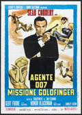 "Movie Posters:James Bond, Goldfinger (United Artists, R-1970s). Italian 2 - Foglio (39"" X 55""). James Bond.. ..."