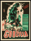 "Movie Posters:Science Fiction, Godzilla (Toho, 1957). French Affiche (23.25"" X 31.5""). ScienceFiction.. ..."