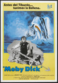 "Movie Posters:Adventure, Moby Dick (Warner Brothers, R-1978). Spanish One Sheet (26.75"" X38""). Adventure.. ..."