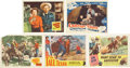 Movie/TV Memorabilia:Autographs and Signed Items, Gene Autry, Lloyd Bridges, and Other Western Stars Signed LobbyCards.... (Total: 5 Items)