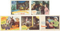 Movie/TV Memorabilia:Autographs and Signed Items, Gene Autry and Others Assorted Autographed Western Lobby Cards....(Total: 5 Items)