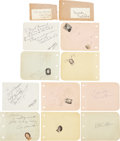 Movie/TV Memorabilia:Autographs and Signed Items, Cary Grant and Others Autograph Set.... (Total: 12 Items)