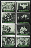 """Movie Posters:Adventure, Colossus and the Headhunters (American International, 1960). LobbyCard Set of 8 (11"""" X 14""""). Adventure. ... (Total: 8 Items)"""