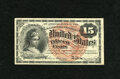 Fr. 1267 15c Fourth Issue Gem New. Exceptional margins are found on this watermarked note which is notorious for having...