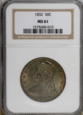 Bust Half Dollars, 1832 50C Large Letters MS61 NGC....