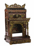 Asian:Chinese, A Chinese Gilt Wood Shrine. Unknown maker, Chinese. Late 19thcentury. Carved, painted and gilt wood. Unmarked. 41.7 inche...
