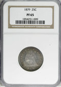 Proof Seated Quarters: , 1879 25C PR65 NGC. NGC Census: (42/28). PCGS Population (25/15).Mintage: 1,100. Numismedia Wsl. Price for NGC/PCGS coin in...