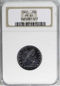Proof Barber Quarters: , 1901 25C PR61 NGC. NGC Census: (4/189). PCGS Population (11/170). Mintage: 813. Numismedia Wsl. Price for NGC/PCGS coin in ...