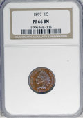 Proof Indian Cents: , 1897 1C PR66 Brown NGC. NGC Census: (15/1). PCGS Population (10/1). Mintage: 1,938. Numismedia Wsl. Price for NGC/PCGS coin...